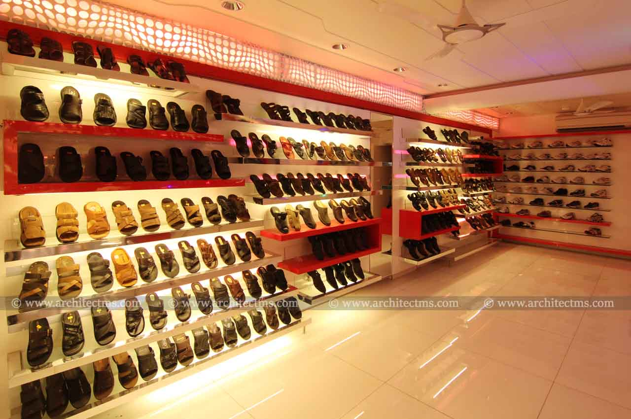 Shoe showroom mehul shah architects for Interior design for shoes shop